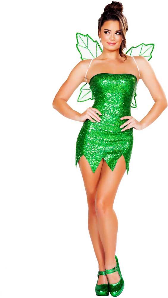 Sexy Adult Women Mischievous Fairy Costume Strapless Mini Dress ...