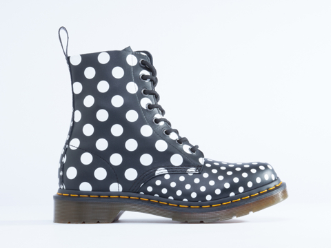 Dr. Martens Chay in White Black Dots size 7.0