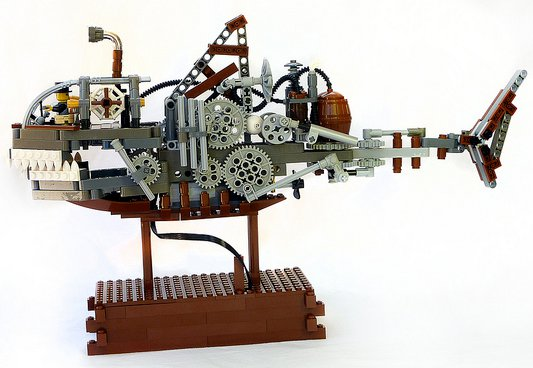 Lego Steampunk Shark Submersible Profile