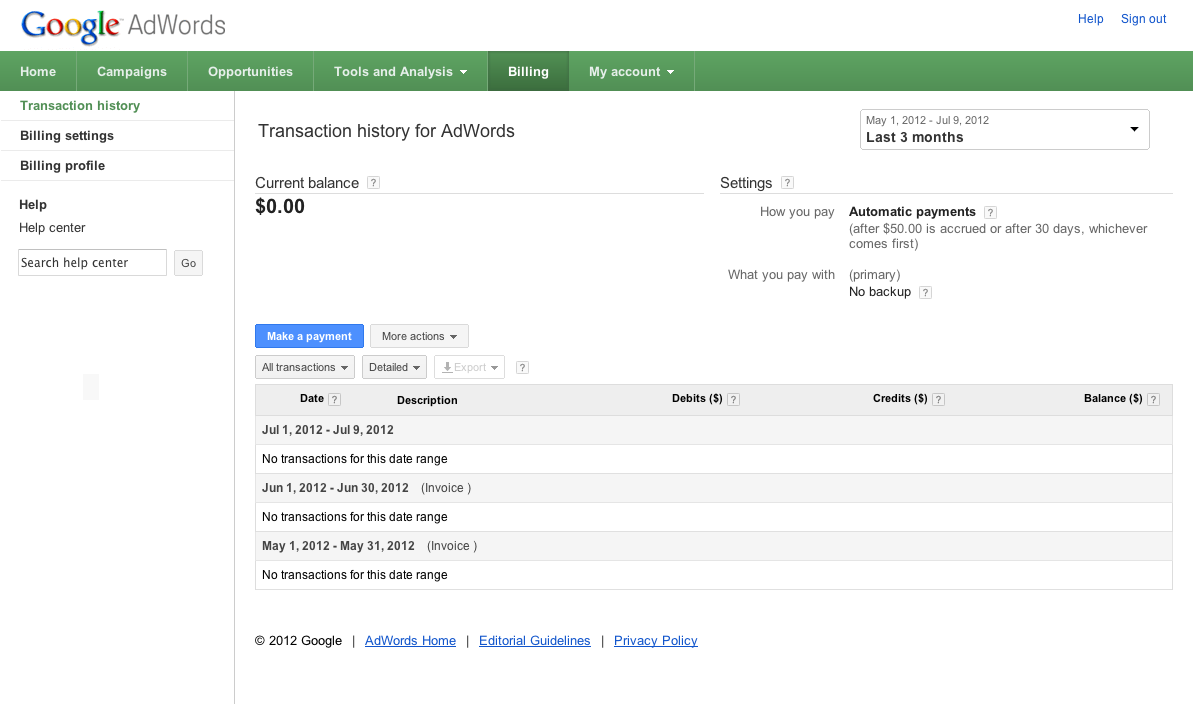 How to make google adwords payments