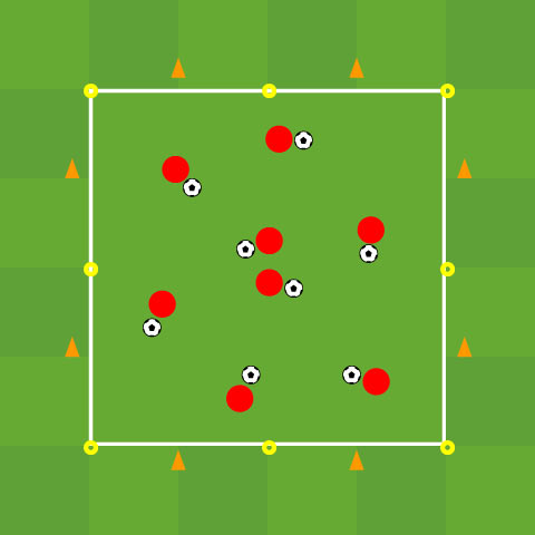 Running With The Ball: Technical Warm Up