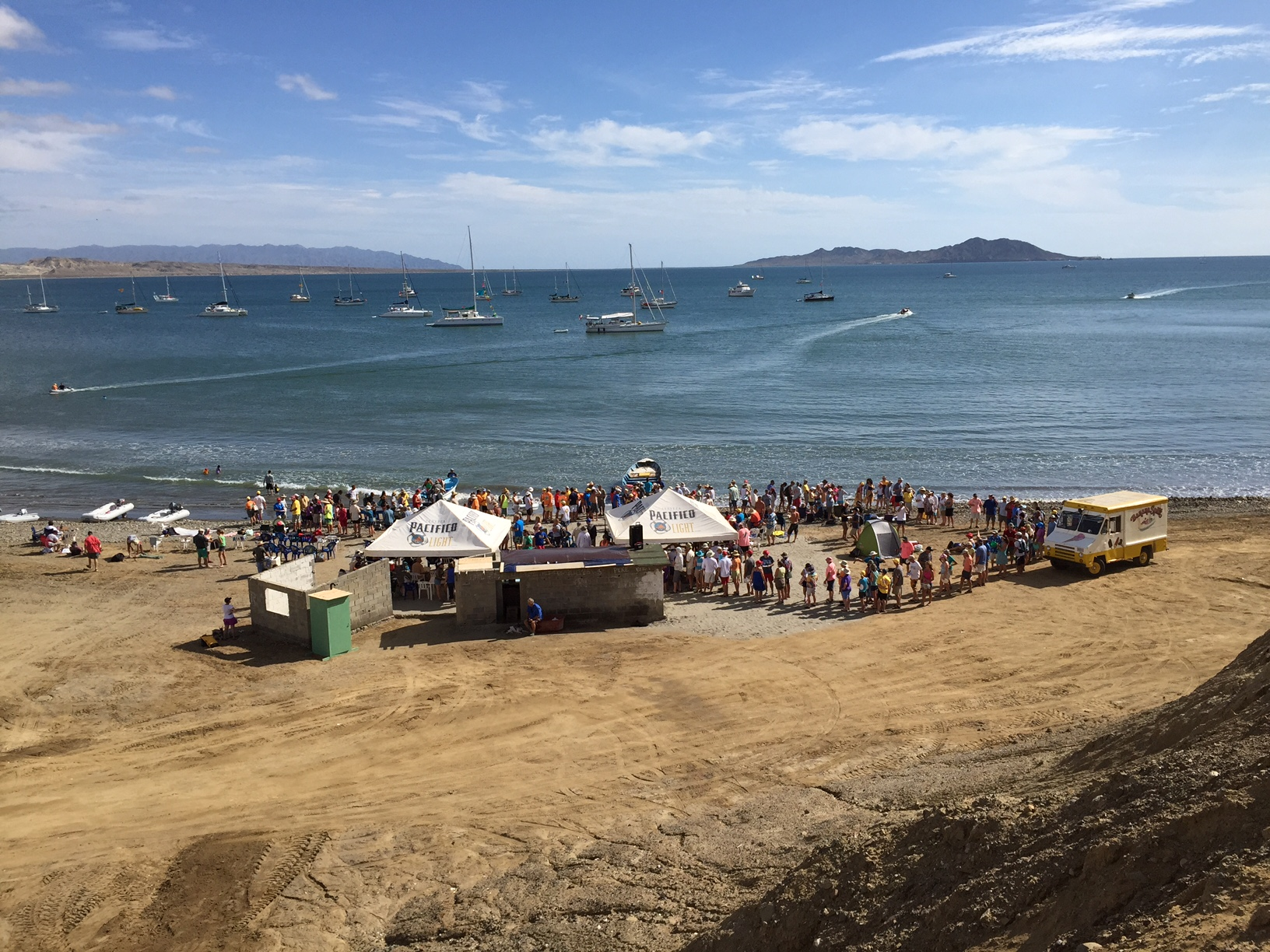 anchored in turtle bay during the 2014 baja haha potluck