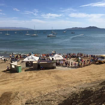 The east end of Turtle Bay during the Baja Haha potluck 2014