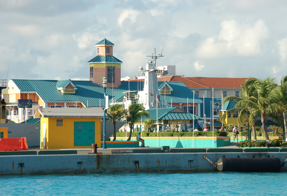 colorful buildings in the are all around nassau