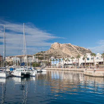 beautiful hills in the background of Marina de Alicante