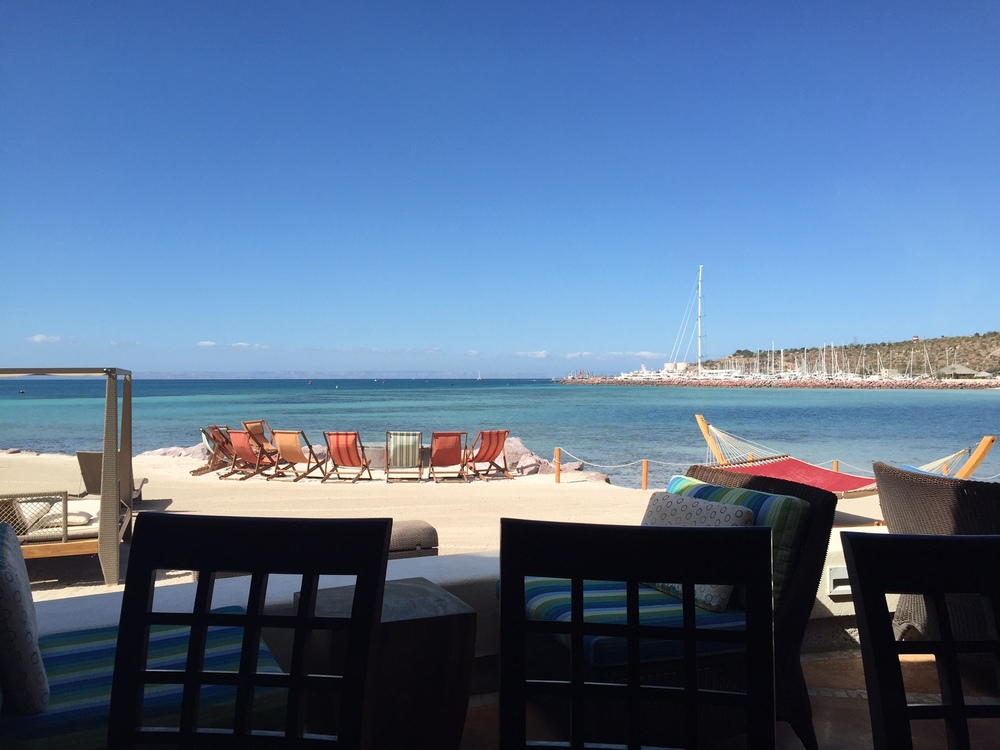 The view from the pool area at Marina Costa Baja - resort style paradise if that's your thing