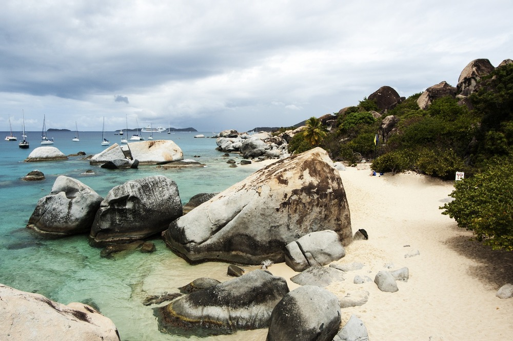 Overcast day in devils bay at Virgin Gorda in the BVIs. Touristy spot, but spectacular.