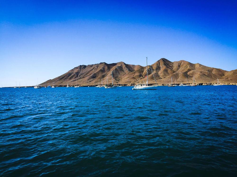 Anchored at Bahia Santa Maria with the Baja Haha fleet in 2014.