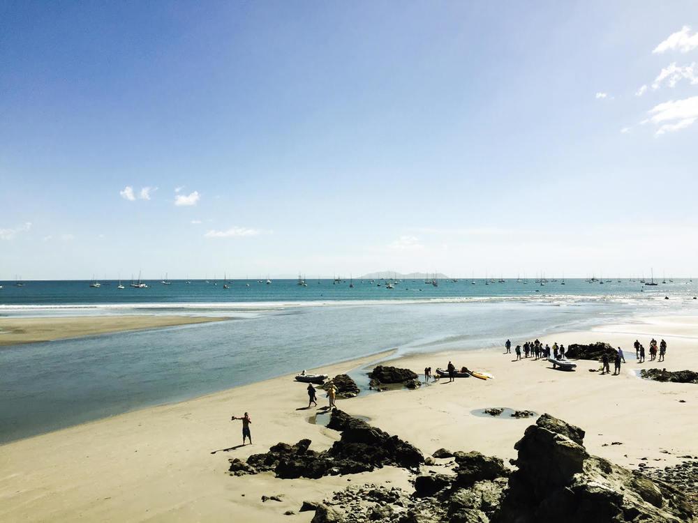 Huge wind swept bay at Bahia Santa Marina  - Our dog loved running around on this huge pristine beach.