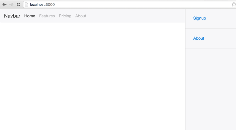 side menu open bootstrap 4
