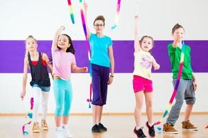 Social kids dancing