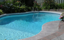 Small social poolwater