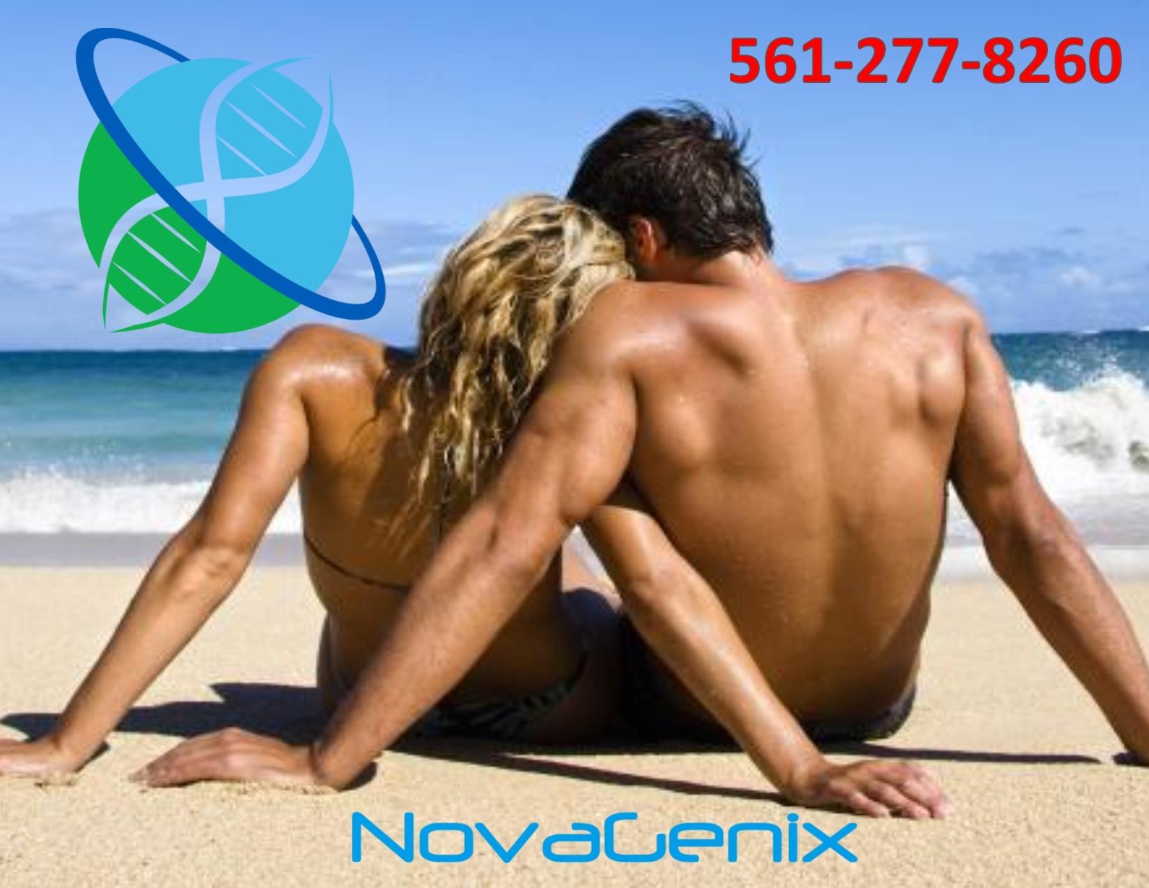 Couple beach sit