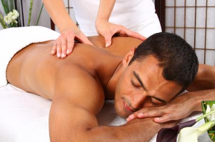 Man massage spa