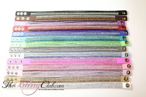 Small all colors crystals and studs vegan leather bracelets theblingclub