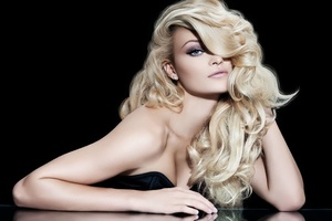Social blondewoman