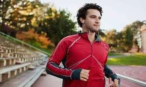 Social man running while listeni 010