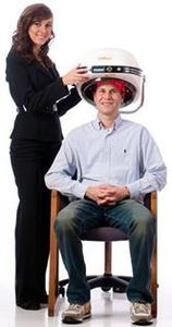 Social laser hair therapy