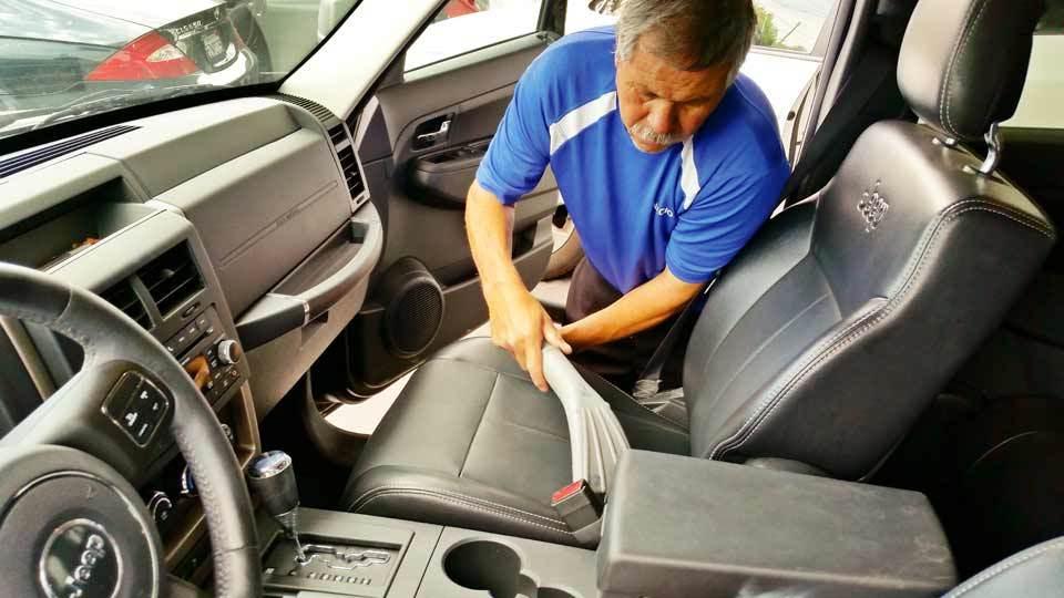 Vacuum the interior seats ventura west