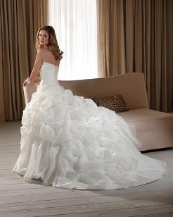 Designer wedding dress small