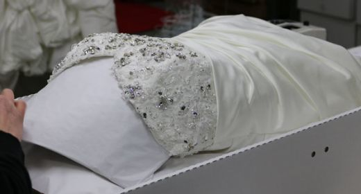 Thmb difference between wedding gown cleaning preservation