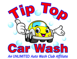 Tip top car wash logo red
