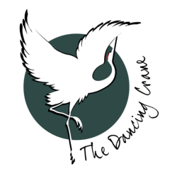 The dancing crane primary logo png  full color
