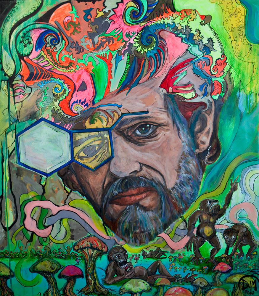Terence Mckenna Art >> Terence Mckenna Fractal Hippy Dim Media Twin Cities