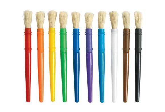 Wooden chubby paint brush