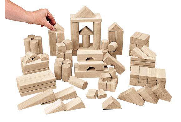 Excellerations® Best Value Tabletop Unit Blocks - 110 Piece Big Builder Set