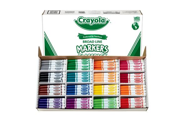 Crayola® Conical Tip Markers Classpack® - Regular, Set of 256