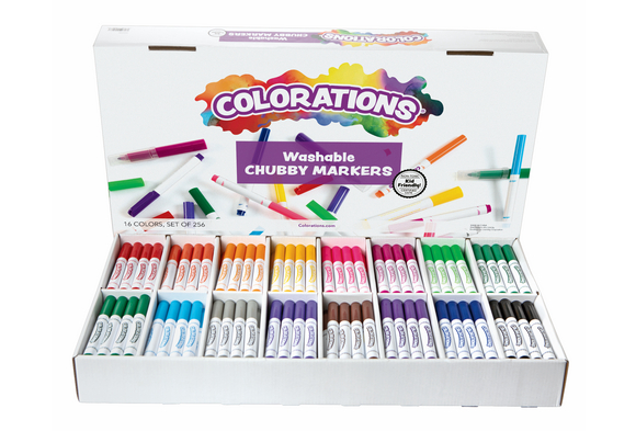 Colorations® Washable Chubby Markers Set of 256