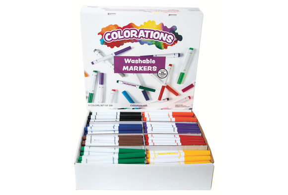 Colorations® Washable Classic Markers Classroom Pack - Set of 200