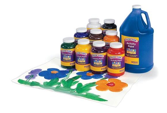 Colorations® Activity Paint, Black - 16 oz.