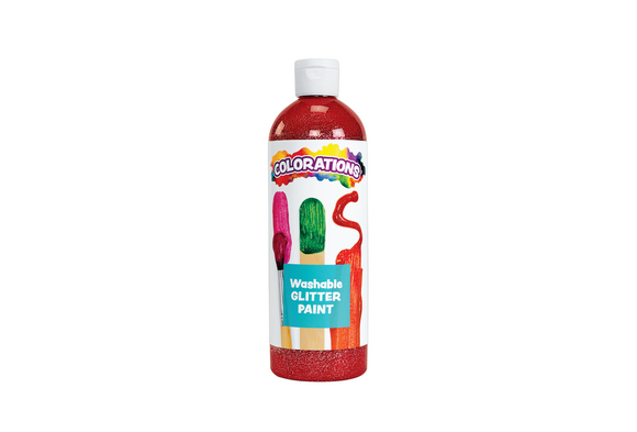 Colorations® Washable Glitter Paint, Red - 16 oz.
