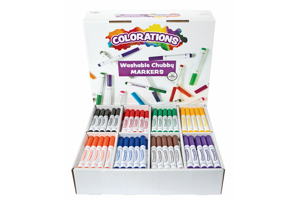 Colorations® Washable Chubby Markers - Set of 200