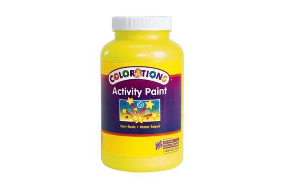 Colorations® Activity Paint, Sparkle Yellow - 16 oz.
