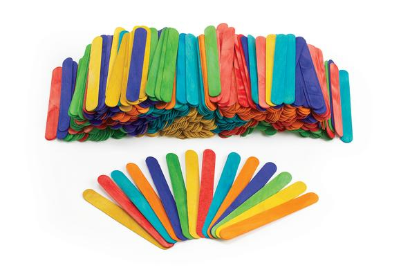 Colorations® Large Colored Wood Craft Sticks - 500 Pieces