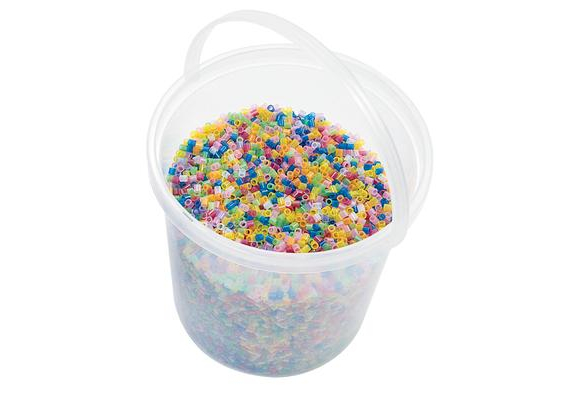 Colorations® Fluorescent Fuse Beads & 4 Pegboards in a Bucket - 20,000 Pieces