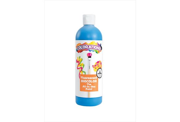 BioColor® Paint, Fluorescent Blue - 16 oz.
