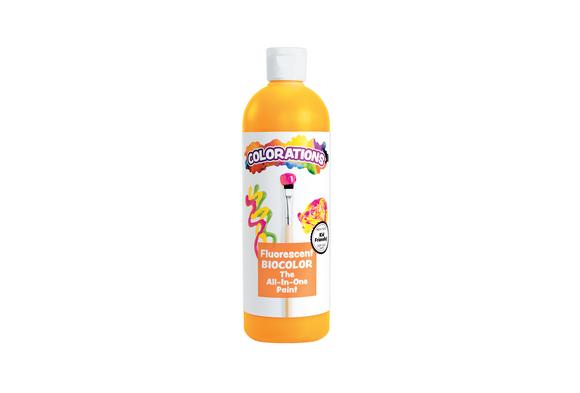 BioColor® Paint, Fluorescent Orange - 16 oz.