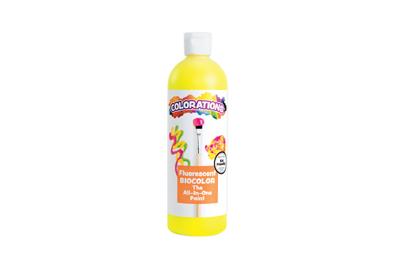 BioColor® Paint, Fluorescent Yellow - 16 oz.