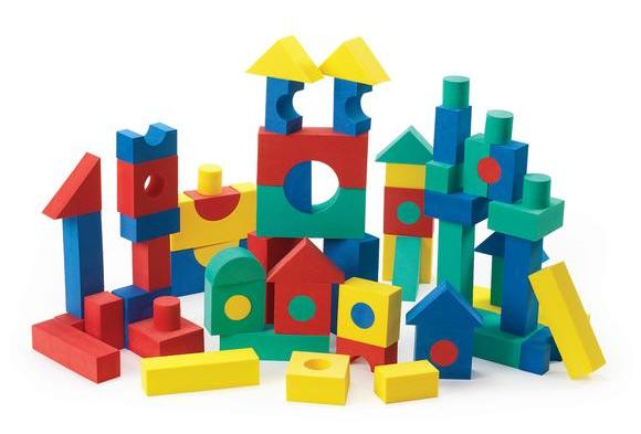 Foam Tabletop Unit Blocks - 68 Pieces