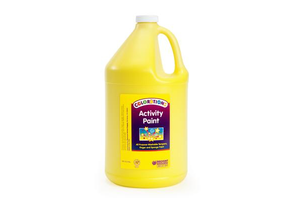 Colorations® Activity Paint, Yellow - 1 Gallon