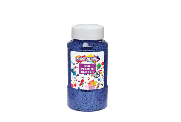 Colorations® Extra-Safe Plastic Glitter, Blue - 1 lb.