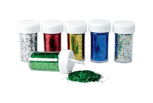 Colorations® Plastic Glitter Pack - Set of 6
