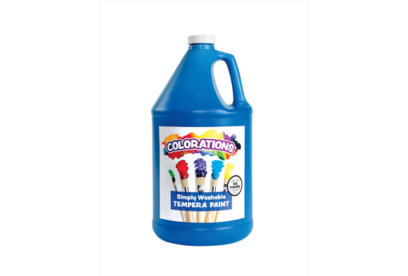 Colorations® Simply Washable Tempera Paint, Blue - 1 Gallon