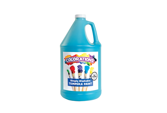 Colorations® Simply Washable Tempera Paint, Turquoise - 1 Gallon