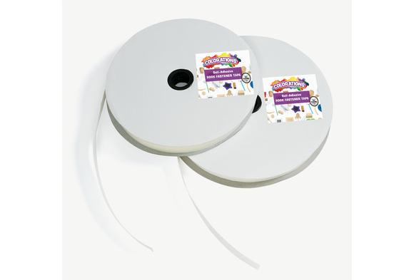 Colorations® Hook Self-Adhesive Fastener - 25 Yards