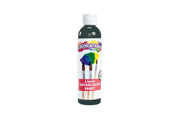 Colorations® Liquid Watercolor™ Paint, Black - 8 oz.